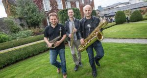 Sax Allemande get set to perform their Irish debut at the opening night of Kilkenny Arts Festival on Friday evening. The events run until August 16th. Photograph: Pat Moore.