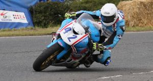 Andy Lawson competing at the Ulster Grand Prix. Photograph: Pacemaker Belfast