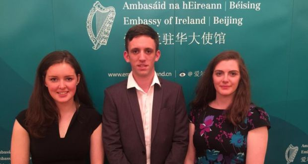 """Huawei's """"Seeds for the Future"""" programme will teach students Katie Rock, Alan Flynn and Helen Fletcher many aspects of the IT firm's business"""