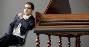 Mahan Esfahani, who was born in Tehran in 1984, makes music like someone who has an old head on young shoulders. Photograph: Marco Borggreve