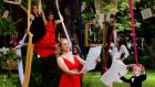 Soprano Aoife Gibney from Dublin singing at the launch of the Culture Night announced in Merrion Square on Tuesday. Photograph: The Irish Times