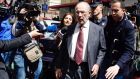 Rodrigo Rato  leaving  his office in April after being charged with fraud. Photograph: Gerard Julien/AFP/Getty Images