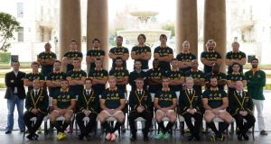 The Springboks: pressure is on the team to record a win before heading to compete in the World Cup in England. Photograph:  Duif du Toit/Gallo Images/Getty Images