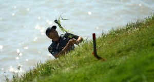 Sergio García plays a practice round prior to the start of 2015 PGA Championship at Whistling Straits. Photograph: Richard Heathcote/Getty Images