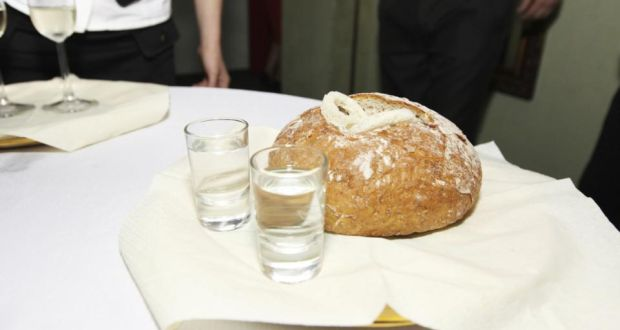 Vodka And Bread Salt At A Polish Wedding