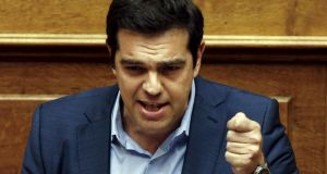"Despite obstacles  some were trying to put into Greece's path, Alexis Tsipras said, he was optimistic ""we will get to an agreement"". Photograph: Yiannis Kourtoglou"