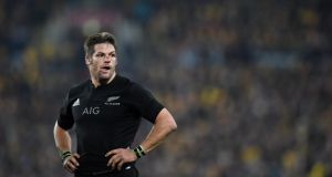 Richie McCaw to become most capped player in test rugby, bypassing Brian O'Driscoll. Photo: EPA
