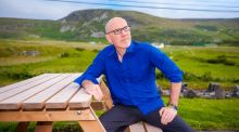 "Michael McCaughan in the Gaeltacht in Co Donegal: ""At Oideas Gael you can learn the harp through Irish, go hillwalking through Irish or just relax and ignore the Irish altogether.""  Photograph: Jason McGarrigle"