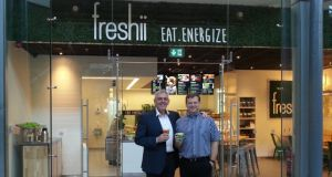 Dave O'Donoghue and Cormac Manning: have brought the Canadian healthy eating franchise Freshii to Ireland, which has already proven to be a hit with the financial types.