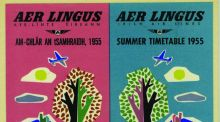 Modern Ireland in 100 Artworks: 1955 – Aer Lingus summer timetable, by Guus Melai