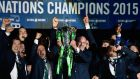 "Ireland's Six Nations win was a major factor in the IRFU's ""strong financial performance"" in the 2014/15 season. Photograph: Getty"