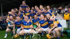 Tipperary players celebrate beating Waterford to win the 2015 Munster Senior Hurling Championship final at Semple Stadium, Thurles. Photograph: Ryan Byrne/Inpho.