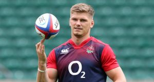 Owen Farrell could end up playing a key role in England's Rugby World Cup campaign. Photograph: