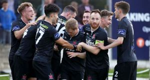 Ciaran Kilduff was on target as champions Dundalk stretched their lead at the top. Photograph: Inpho