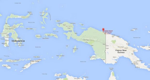 Indonesia plane with 54 people on board found crashed a map showing sentani airport where the missing plane departed from on sunday photograph sciox Image collections