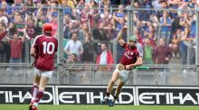 Shane Moloney's point at the death booked Galway a place in the All-Ireland hurling final. Photograph: Inpho