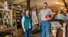 "Andy and Jackie Pierce of J&B Hope  in Cavan. Andy used his savings to open  the coffee and kitchenware shop he describes as having ""an Amish influence"", three years ago. Photograph: Brenda Fitzsimons/The Irish Times"