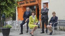 "Stanley Fyffe, Jenny Kent, Fintan Dunne and Marie Quinn have seen a ""fragile"" recovery in Abbeyleix, Co Laois. Photograph: Brenda Fitzsimons/The Irish Times"