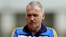 Tipperary's manager Eamon O'Shea after the defeat against Galway on Sunday. Photograph: James Crombie/Inpho