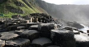 The Giant's Causeway reaches the dizzy heights of number 95 in the list with more than 128,000 Instagram appearances Photograph: Paul Faith/PA Wire