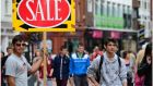Retail sales rose 2.3 per cent in the year to the end of June and are 2.8 per cent ahead of the same period last year, although still lagging 14 per cent behind the pre-crash economy.  Photograph: The Irish Times.