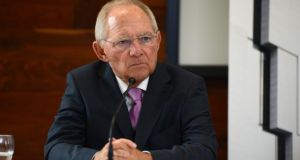 'Merkel, for her part, used Schäuble's exit plan as a bargaining tool, certain that Tsipras would eventually cave in and get rid of Varoufakis.' Above,  Wolfgang Schäuble, in Dublin last year. Photograph: Cyril Byrne / The Irish Times