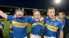Tipperary's  Seamus Hennessey, Noel McGrath and James Barry celebrate the All-Ireland U-21 hurling final victory over Galway in 2010. But Tipp's great season  failed to lead on to the expected glory. Photograph: Morgan Treacy/Inpho