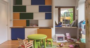 After: The playroom in the  Hedge House by GKMP. Photograph:  Noel Bowler