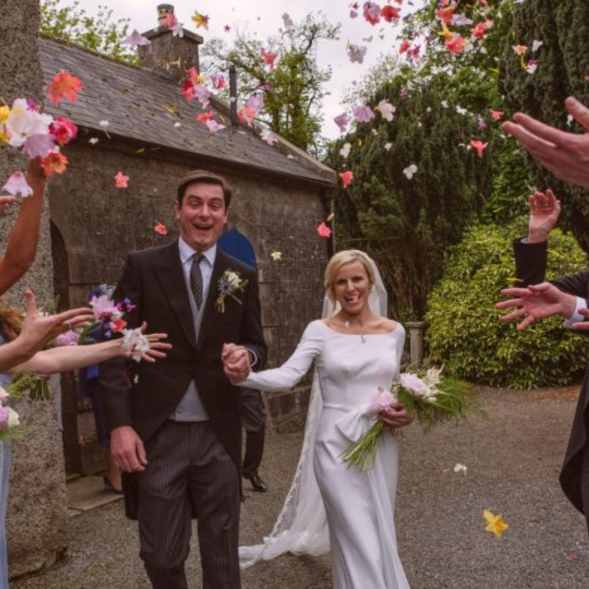 Our wedding story: A fairy-tale garden party in sunny Slane