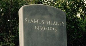 Heaney's headstone in St Mary's churchyard in Bellaghy