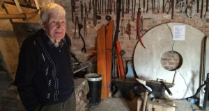 Barney Devlin, whose blacksmith father, Frank, featured in the Heaney's sonnet The Forge
