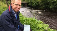 Eugene Kielt, an enthusiast for all things Heaney, on the banks of the Moyola river