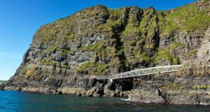 The Gobbins cliff path in Islandmagee, Co Antrim, is expected to draw about 50,000 people to the site each year.