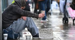 A homeless man in Dublin. File photograph: Alan Betson/The Irish Times