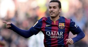 Chelsea have all but sealed a €30 million deal with Barcelona to sign winger Pedro, beating Manchester United to get the Spain internatonal. Photograph: Getty Images