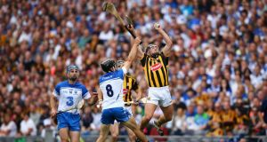 Kilkenny's Richie Hogan in action against Waterford in the recent All-Ireland semi-final at Croke Park. Hogan has been fortright in his views on the current format of the league structure. Photograph: Inpho.