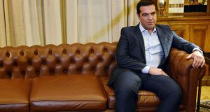 Alexis Tsipras will be confronted by a 'patriotic front' of Syriza rebels. Photograph: AFP/Getty Images