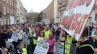 A protest against homelessness in Dublin. Photograph: Eric Luke/The Irish Times