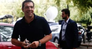 Greek prime minister Alexis Tsipras resigned  on Thursday night in a calculated gamble to  rid himself of his party's left flank. Photograph: Kostas Tsironis/Bloomberg
