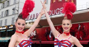 Eighteen-year-old Isabelle Van den Bergh and her 23-year-old sister Claudine are part of the multi-disciplined Doriss Girls troupe. Photograph: Moulin Rouge