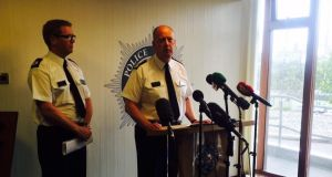PSNI Chief Constable issues a statement on his views on the current status of the Provisional IRA, in Belfast, Saturday, August 22nd, 2015. Photograph: Amanda Ferguson
