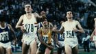 British athletes Steve Ovett and Sebastian Coe during the Olympic Games in Moscow, 1980. Photograph: Getty Images