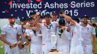 England regained The Ashes despite a final Test defeat at the Oval, winning the series 3-2. Photogrpah: Afp