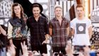 "Harry Styles, Liam Payne, Niall Horan, and Louis Tomlinson of One Direction perform on ABC's ""Good Morning America"" at Central Park on August 4, 2015 in New York City. Photograph: Stephen Lovekin/Getty Images"