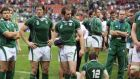 Ireland failed to make it out of the pool of death at the 2007 Rugby World Cup. Photograph: Getty