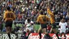 Rob Andrew's drop goal gave England victory over Australia with the last kick of the 1995 Rugby World Cup quarter-final. Photograph: Getty