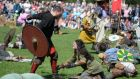 Some 500 Vikings descend on St Anne's Park, Raheny as Dublin City Council staged the largest-ever living history battle re-enactment in Ireland at the Battle of Clontarf Festival.  Photograph: Dara Mac Donaill