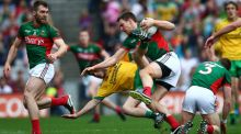 "Mayo's Barry Moran in action against Donegal. ""It really is horses for courses. So what worked against Donegal obviously isn't going to work against Dublin."" Photograph: Cathal Noonan/Inpho"