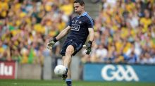Stephen Cluxton: his kick-outs are vital to Dublin's prospects on Sunday. Photograph: Morgan Treacy/Inpho