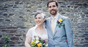The couple were married on June 26th, in a humanist ceremony, in the walled garden of Trudder Lodge, Co Wicklow.